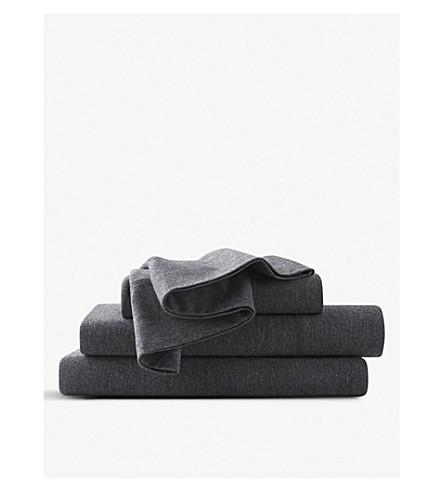 CALVIN KLEIN Modern cotton-blend single fitted sheet (Charcoal