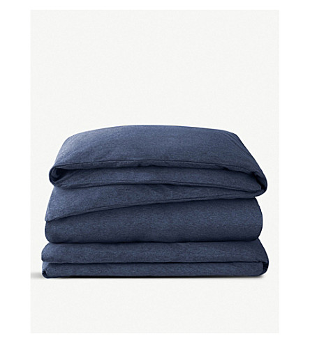 CALVIN KLEIN Modern cotton-blend king duvet cover (Indigo