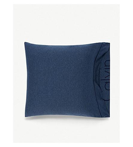 CALVIN KLEIN Modern cotton-blend square pillowcase 65cm x 65cm (Indigo