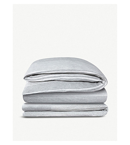 CALVIN KLEIN Modern Cotton rhythm double duvet cover 200x200cm (Grey