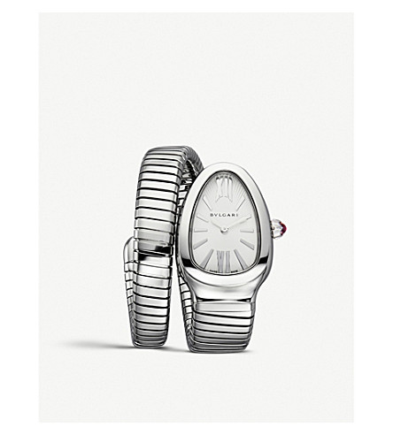 BVLGARI Serpenti Tubogas stainless steel watch