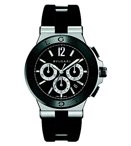 BVLGARI Diagono steel watch