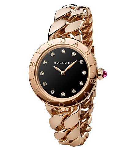 BVLGARI BVLGARI-BVLGARI Catene 18ct pink-gold and diamond watch