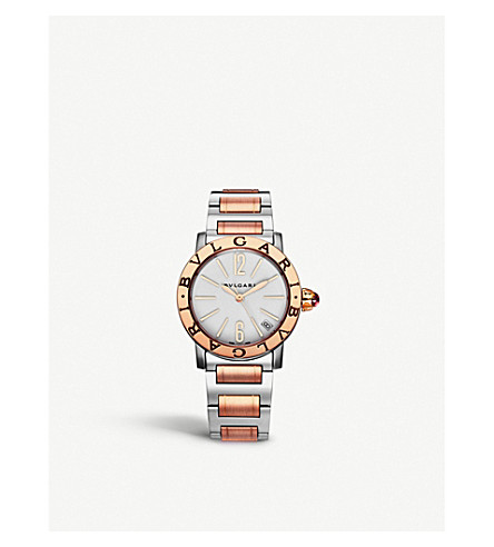 BVLGARI BVLGARI-BVLGARI 18ct pink-gold watch