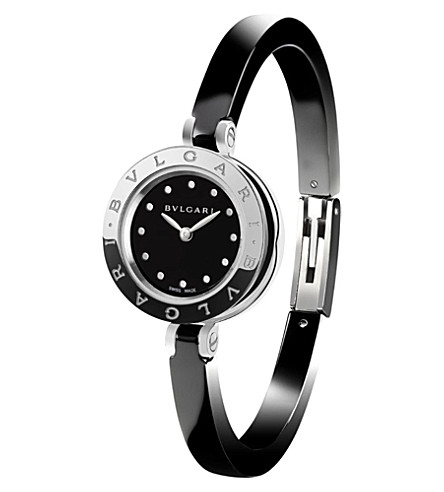 BVLGARI B.zero1 steel and ceramic watch