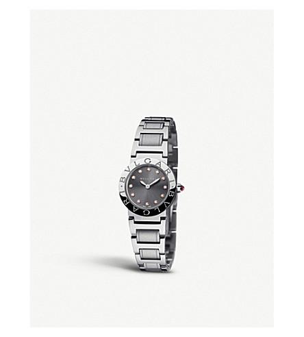 BVLGARI Bvlgari-Bvlgari 不锈钢和钻石手表