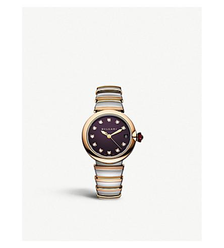 BVLGARI Lvcea 18ct 粉红色-金和钻石手表