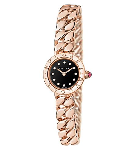 BVLGARI BVLGARI-BVLGARI Piccola Catene 18ct rose-gold and diamond watch (Pink+gold