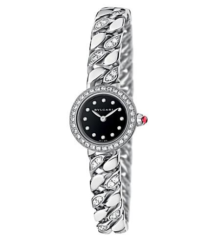 BVLGARI BVLGARI-BVLGARI Piccola Catene 18ct white-gold and diamond watch (White+gold