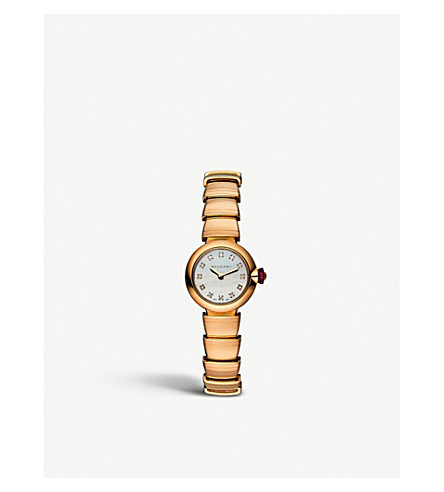 BVLGARI Lvcea 18kt pink-gold, Mother of Pearl and diamond watch