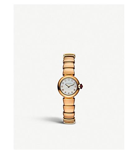 BVLGARI Lvcea 18kt 粉红色金子, 珍珠的母亲和金刚石手表