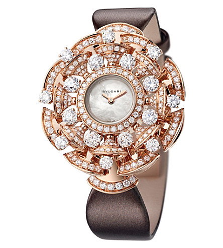 BVLGARI Divas' Dream 18kt pink-gold, Mother of Pearl and diamond watch
