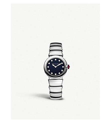 BVLGARI Lvcea 不锈钢和钻石手表