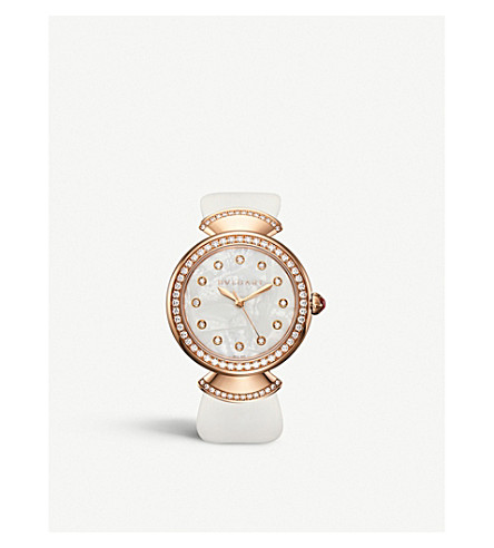 BVLGARI Divas' Dream 18kt pink-gold and diamond watch (Pink+gold