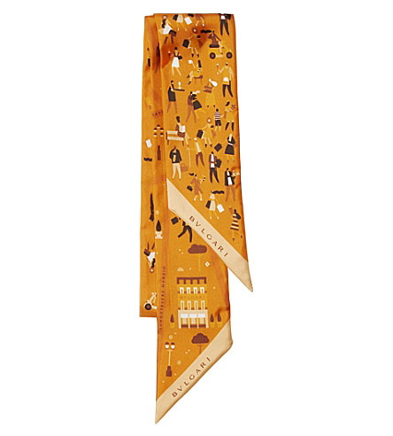 BVLGARI Shelley Roma Heritage silk scarf