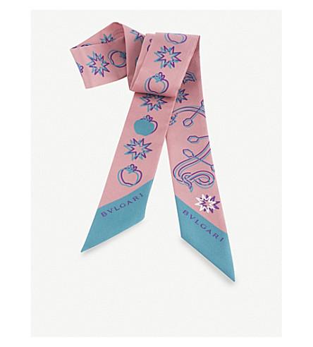 BVLGARI Pop Heart Mini silk scarf