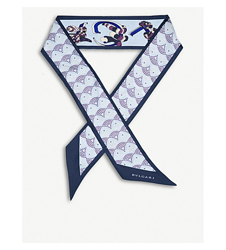 BVLGARI Heritage 'Diva Signature' shelley twill silk scarf