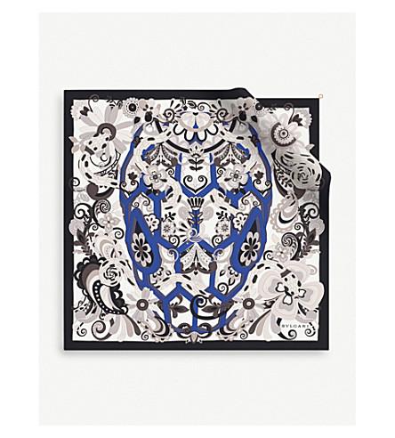 BVLGARI 'Serpenti Love Yard' twill silk scarf