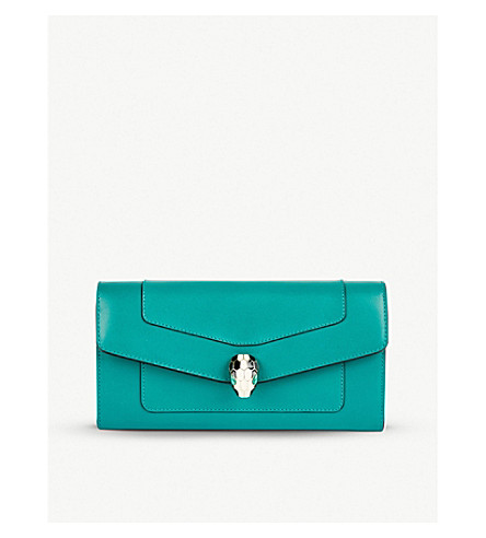 BVLGARI Continental leather wallet (Emerald+green