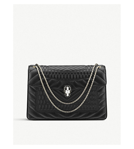 BVLGARI Serpenti Forever calf-leather shoulder bag (Black