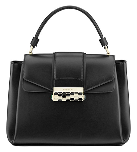 BVLGARI Serpenti Viper leather tote (Black
