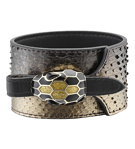 BVLGARI Serpenti Forever python-leather bracelet
