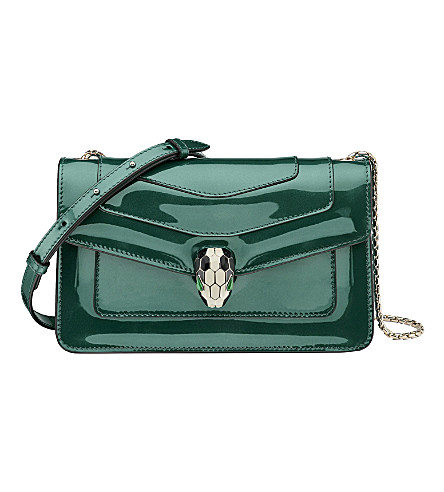 BVLGARI Bulgari patent-leather shoulder bag
