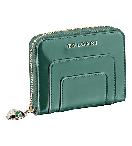 BVLGARI Serpenti Forever patent-leather wallet