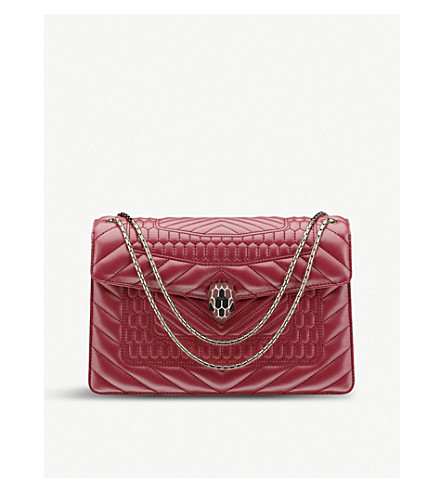 BVLGARI Serpenti Forever scaglie leather shoulder bag