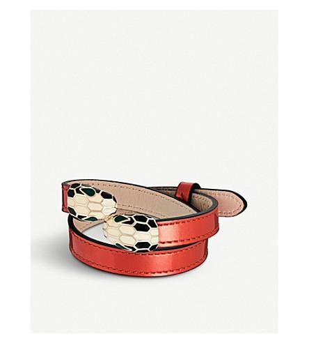 BVLGARI Serpenti Forever double-head leather bracelet