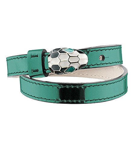 BVLGARI Serpenti Forever metallic-leather bracelet