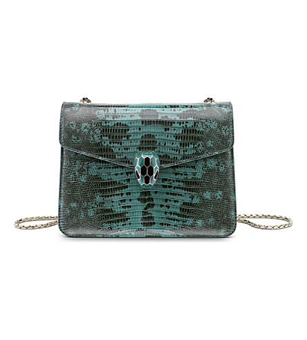 BVLGARI Serpenti Forever lizard-leather shoulder bag