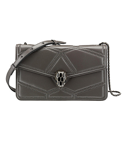 BVLGARI Serpenti Forever Stardust leather shoulder bag