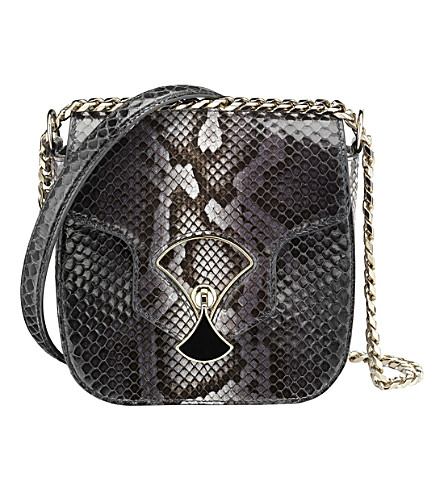 BVLGARI Diva's Dream python-skin shoulder bag