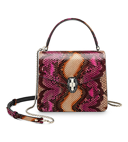 BVLGARI Serpenti Forever python-skin shoulder bag