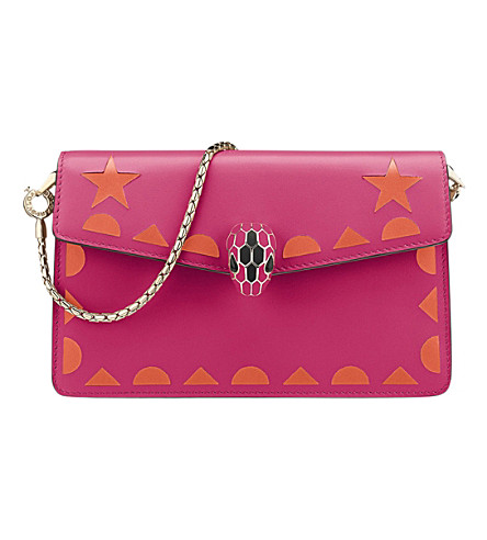 BVLGARI Serpenti Forever Star Studs leather mini bag