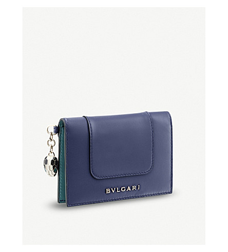 BVLGARI Serpenti Forever leather credit card holder