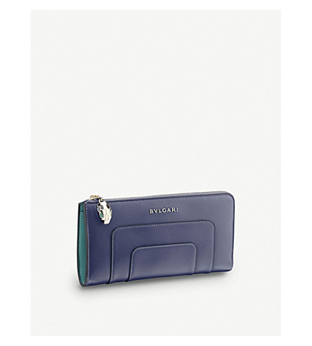 BVLGARI Serpenti leather wallet