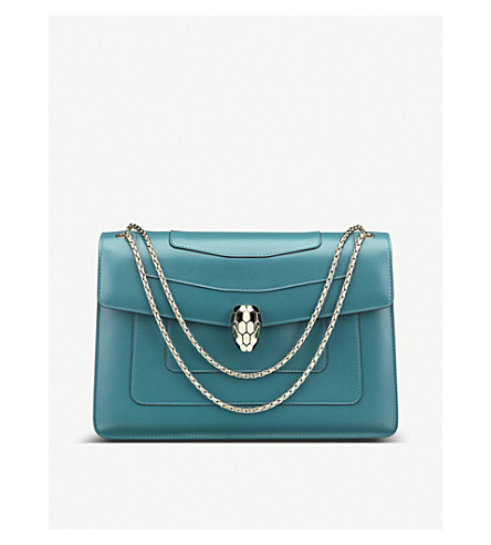 BVLGARI Serpenti leather shoulder bag
