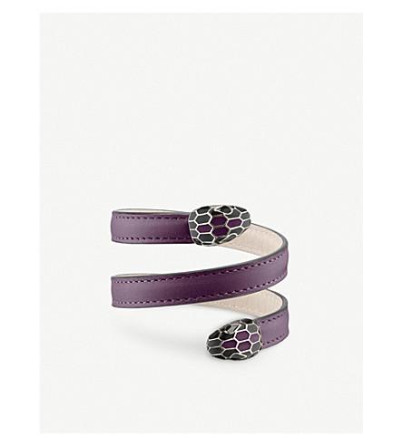 BVLGARI Serpenti 永远皮革缠绕式手链