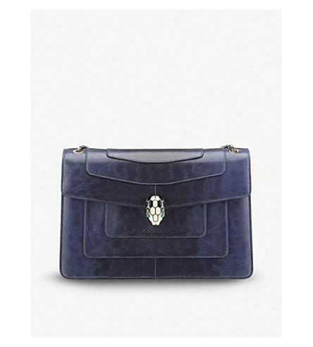 BVLGARI Serpenti Forever snake-leather shoulder bag