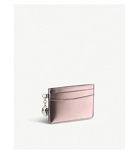 BVLGARI Serpenti Forever metallic-leather card holder