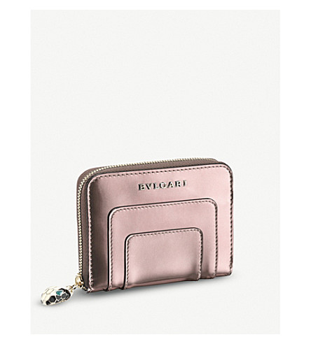 BVLGARI Serpenti Forever metallic-leather wallet
