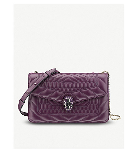 BVLGARI Serpenti Forever Scaglie quilted-leather shoulder bag