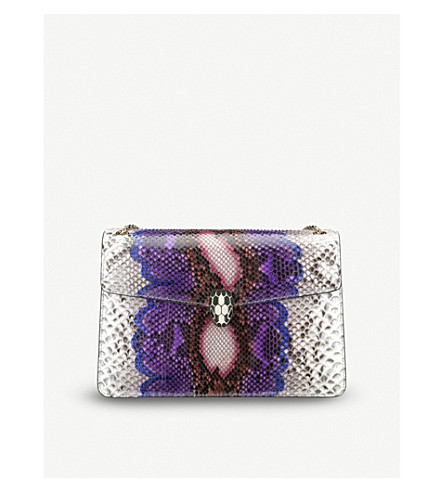 BVLGARI Serpenti Forever Halo python-leather shoulder bag