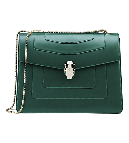 BVLGARI 34563 serpenti forever shoulder bag m (Emerald+green
