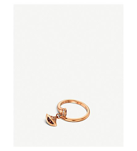 BVLGARI Divas' Dream 18kt pink-gold and diamond ring
