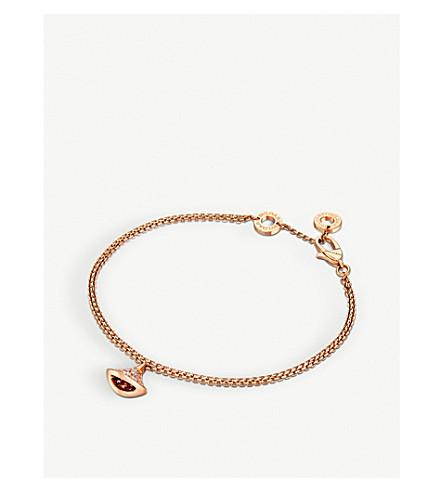 BVLGARI 18kt 粉红色金色和钻石手镯