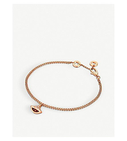 BVLGARI Divas' Dream 18kt pink-gold and diamond bracelet