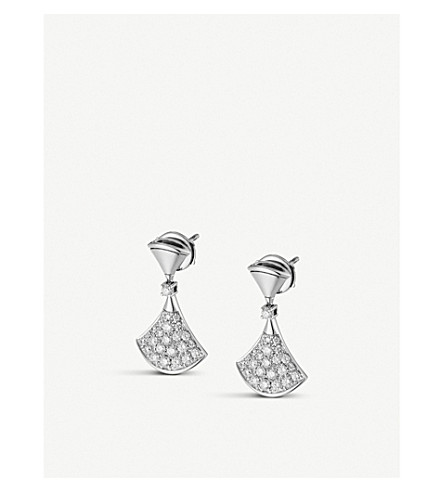 BVLGARI Divas' Dream 18kt white-gold and diamond earrings